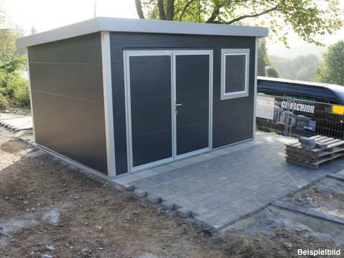 Go iso hochwertiges gartenhaus isoliert 5 00 x 2 00 m por trapezblech gonschior ohg homify - Gartenhaus isoliert ...