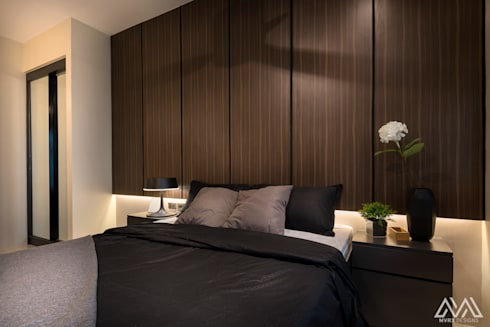 Modern Lux—Wil Tower QC: modern Bedroom by MVRX Designs