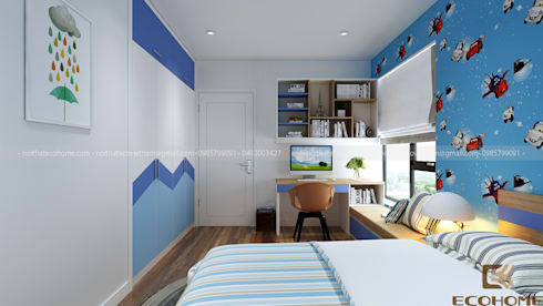 P2202 Tòa C Chung cư Imperia Garden :  Phòng ngủ by Công Ty TNHH Xây Dựng & Nội Thất ECO Việt Nam