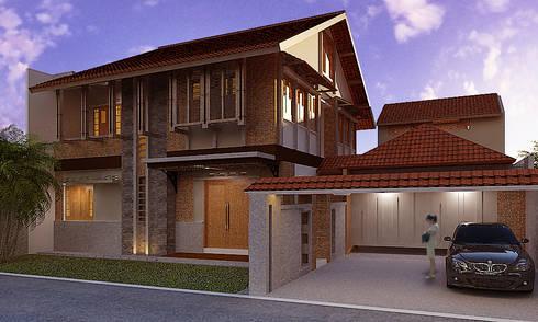Bintaro House:  Rumah tinggal  by Urbanismo Indonesia