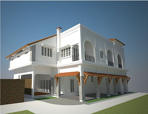 Cilandak House:  Rumah tinggal  by Urbanismo Indonesia