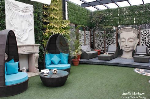 Terrace Garden Design By Studio Machaan:  Terrace by Studio Machaan