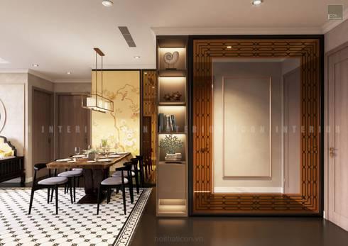 Nội thất căn hộ Vinhomes Central Park thiết kế theo phong cách Đông Dương:  Cửa ra vào by ICON INTERIOR