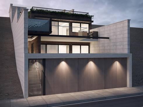 Conjunto Bifamiliar Playa Caballeros: Casas multifamiliares de estilo  por Artem arquitectura