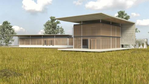 Casa <q>Pieles</q>: Casas de estilo moderno por Artem arquitectura