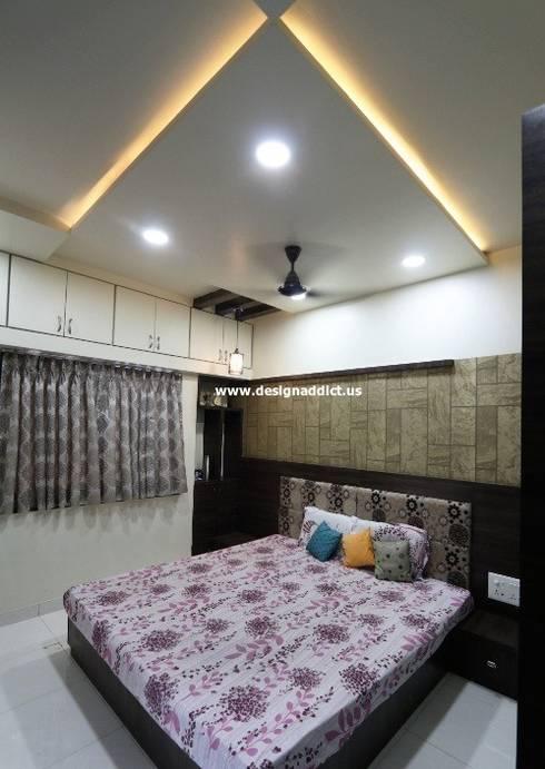 Row house interior designing work: modern Bedroom by Designaddict