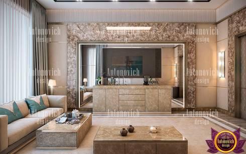 Art architecture and design of Katrina Antonovich: modern Living room by Luxury Antonovich Design
