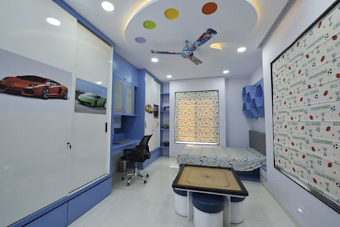 Mr Swapnil Choudhary: modern Bedroom by GREEN HAT STUDIO PVT LTD