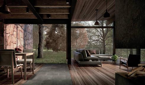 CASA TUL.: Salas de estilo ecléctico por JCh Arquitectura