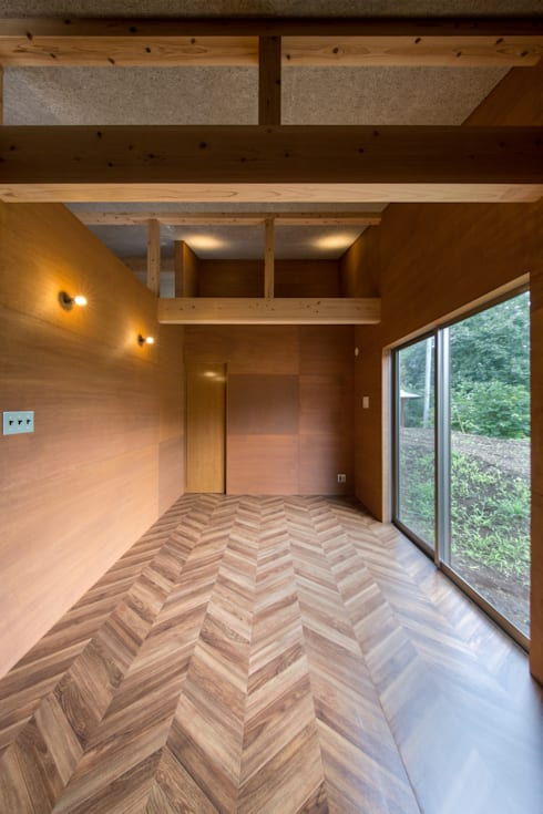 TH-HOUSE: Yama Designが手掛けた寝室です。
