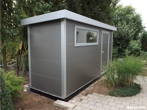 go iso hochwertiges gartenhaus isoliert 4 50 x 1 50 m von trapezblech gonschior ohg homify. Black Bedroom Furniture Sets. Home Design Ideas