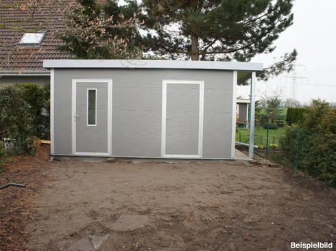 go iso hochwertiges gartenhaus isoliert 5 00 x 2 50 m von trapezblech gonschior ohg homify. Black Bedroom Furniture Sets. Home Design Ideas