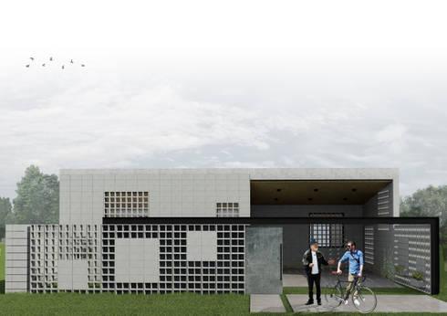 Casa DN : Casas de estilo minimalista por Estudio Enlace