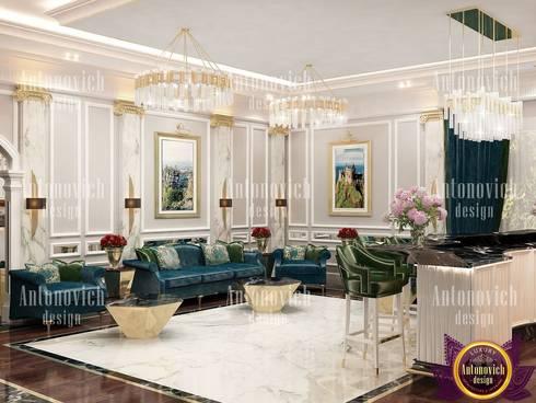 Best home interior design by Katrina Antonovich: modern Living room by Luxury Antonovich Design