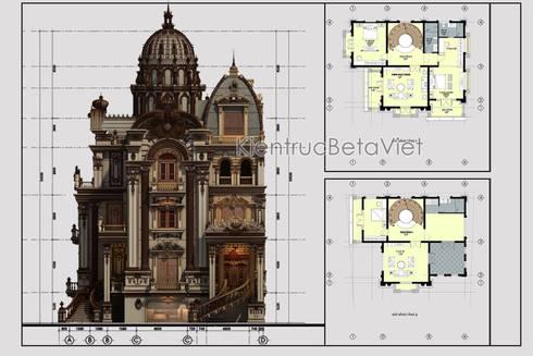 Mặt bằng tầng 1 mẫu lâu đài kiểu Pháp 3 tầng đẹp lung linh siêu hoành tráng (CĐT: Ông Vĩ - Bắc Ninh) BT16023:   by Công Ty CP Kiến Trúc và Xây Dựng Betaviet