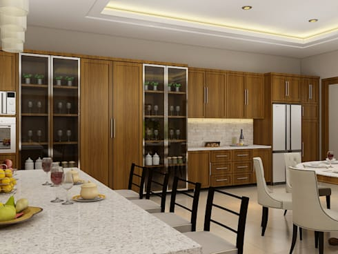 JC Residence:  Dapur built in by EquiL Interior