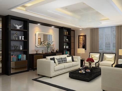 JC Residence:  Ruang Keluarga by EquiL Interior