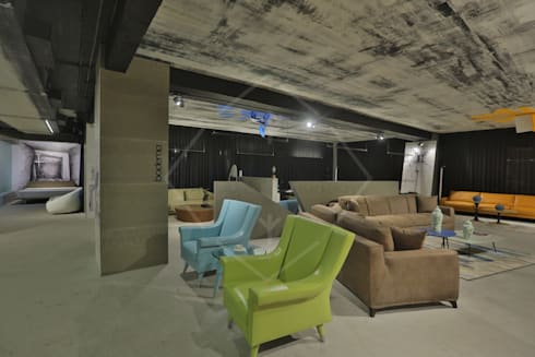 Premium italian furniture showroom:  Commercial Spaces by SPACCE INTERIORS