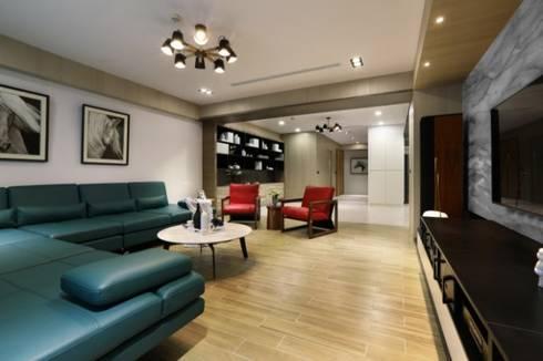 人文自然派的no.229舍:  客廳 by 喬克諾空間設計