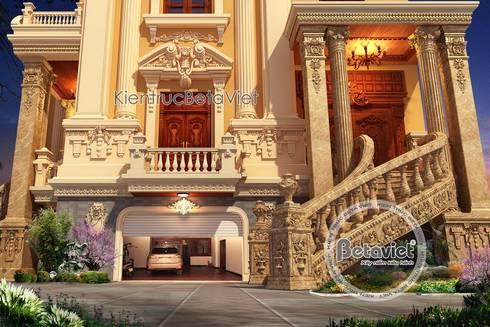 Phối cảnh mẫu thiết kế dinh thự - lâu đài kiểu Pháp nguy na lộng lẫy (CĐT: Ông Vĩ - Bắc Ninh) BT16023:   by Công Ty CP Kiến Trúc và Xây Dựng Betaviet
