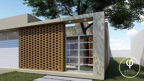 Pasillos y hall de entrada de estilo  por ARBOL Arquitectos