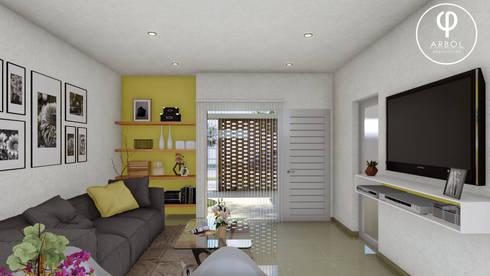 Livings de estilo minimalista por ARBOL Arquitectos
