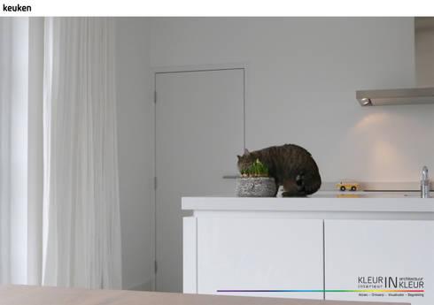 Kleurinkleur interieur architectuur minimalistisch interieur