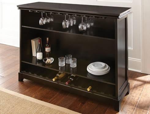 STEVE SILVER GARCIA BAR W/FOOT RAIL - BAR HEIGHT: modern Wine cellar by Perfect Home Bars