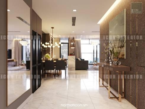 Nội thất Châu Âu hiện đại trong căn hộ Vinhomes Central Park:  Cửa ra vào by ICON INTERIOR