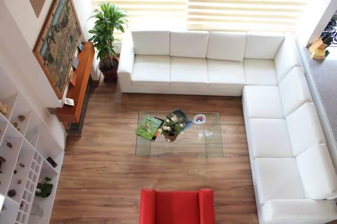 Vista área social: Salas de estilo clásico por ATELIER HABITAR