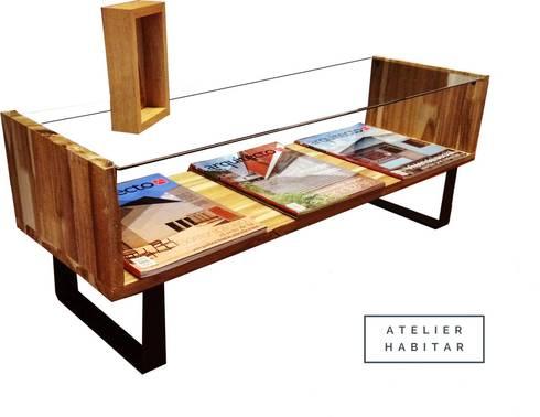 Mesa 01: Salones de estilo  por ATELIER HABITAR