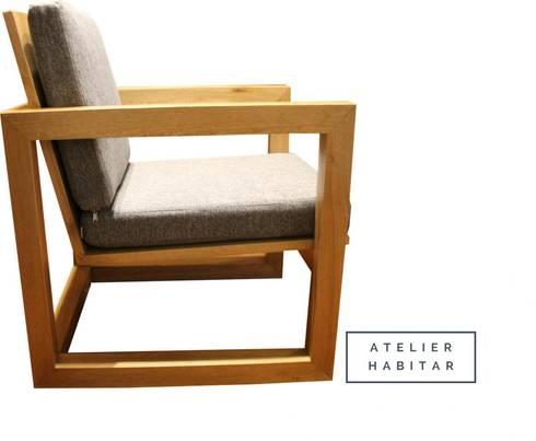 Silla 01: Salones de estilo  por ATELIER HABITAR