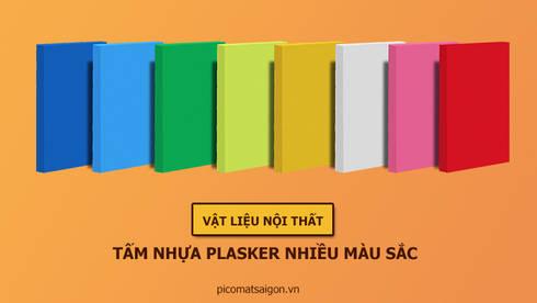 Tấm nhựa Plasker pha màu:   by Picomat Sài Gòn