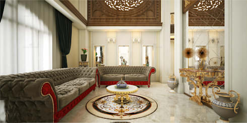 Home Interior Design Ideas: asian Living room by Monnaie Interiors Pvt Ltd