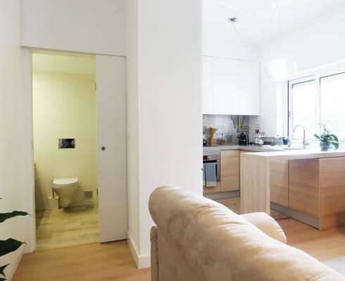 Casa da Rute: Salas de estar escandinavas por Homestories