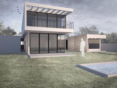Casa Chamisero: Casas de estilo moderno por BMAA