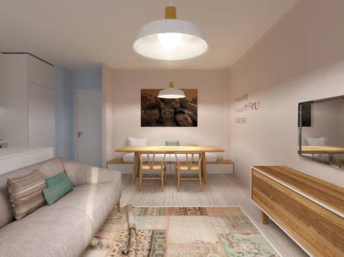 Casa do Zé e da Vanda: Salas de estar escandinavas por Homestories