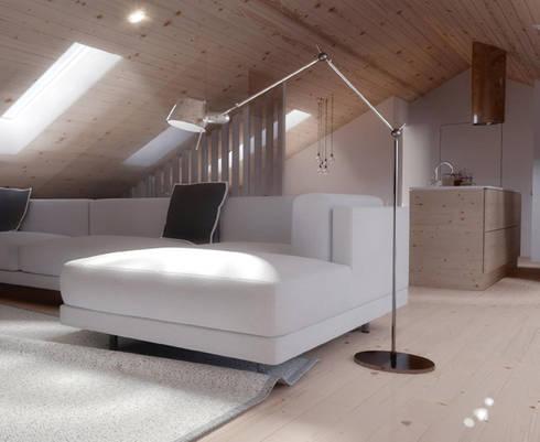 O sótão da família Oliveira: Salas de estar escandinavas por Homestories