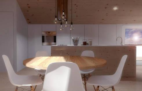 O sótão da família Oliveira: Salas de jantar escandinavas por Homestories