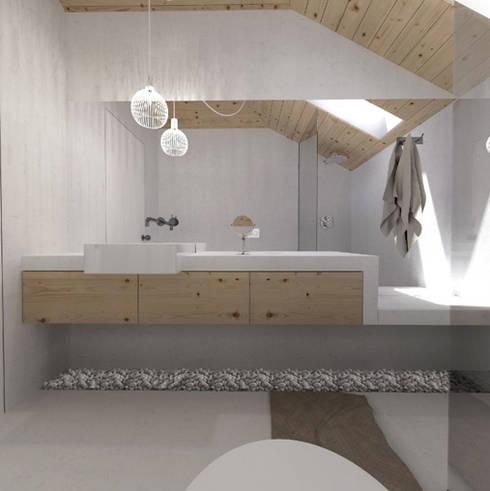 O sótão da família Oliveira: Casas de banho escandinavas por Homestories