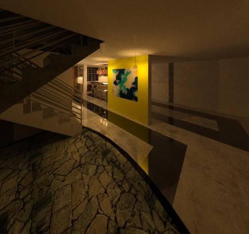 VISTA HALL DE LA VIVIENDA: Pisos de estilo  por ESTUDIO KULUMAK