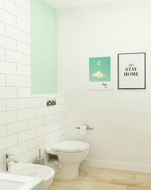 Casa da Susana: Casas de banho escandinavas por Homestories