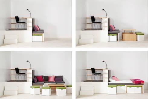 Giường ngủ thông minh:  Phòng khách by Nội thất thông minh giường