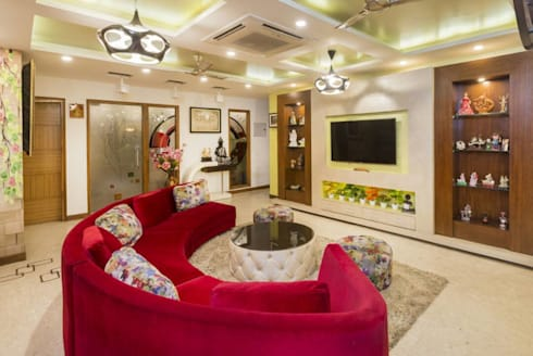 Mr. Mandal: modern Living room by Incense interior exterior pvt Ltd.