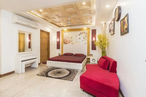 Mr. Mandal: modern Bedroom by Incense interior exterior pvt Ltd.