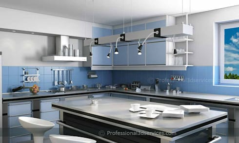 Architectural 3D Interior Rendering:  Kitchen units by ThePro3DStudio