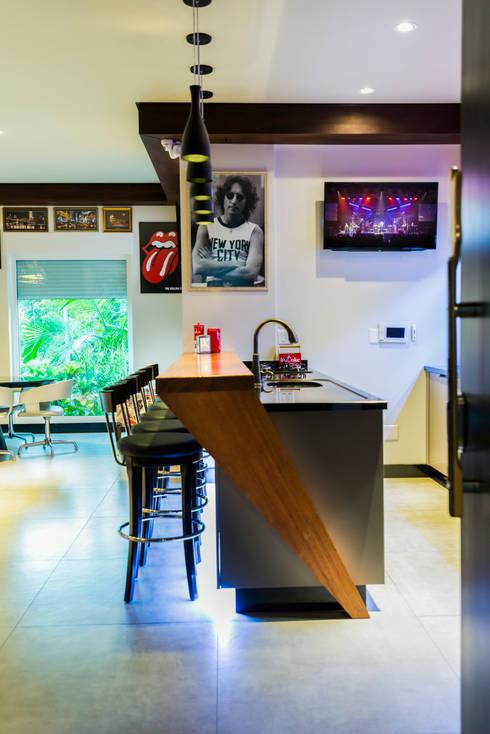 Área De Festas , Home Pub E Man Cave Rock N´ Roll AM   Projeto