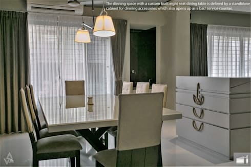 dining area: modern Dining room by Design Paradigm