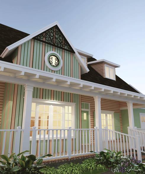 Detail Fasad PFR 02:  Rumah tinggal  by CASA.ID ARCHITECTS