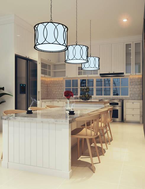 Kitchen Interior PFR 02:  Ruang Makan by CASA.ID ARCHITECTS